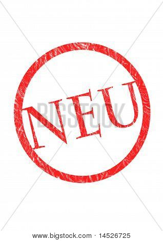 red textured NEU icon
