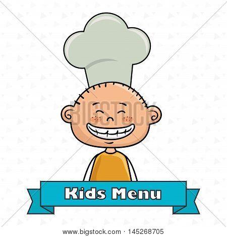 boy kids menu food vector illustration graphic