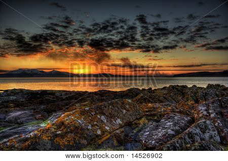 Portencross sunset