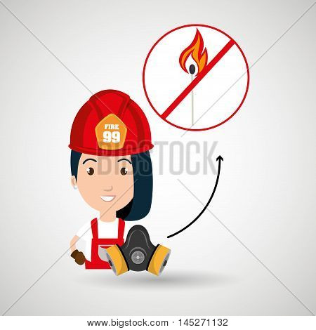 woman fire match vector illustration graphic eps 10