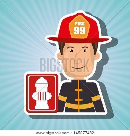 man fire hydrant icon vector illustration graphic