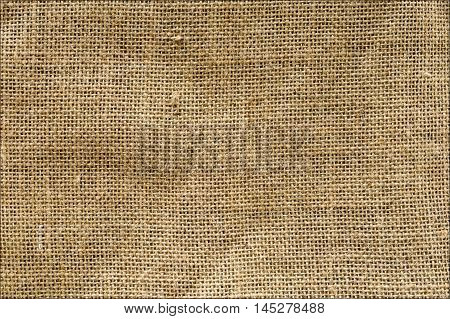 Burlap Background. Natural textured canvas old bag