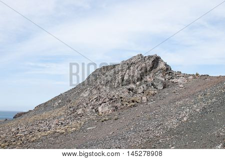 Landscape and rock mountain background at Antarctica