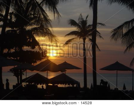 Sonnenuntergang in Phuket, thailand