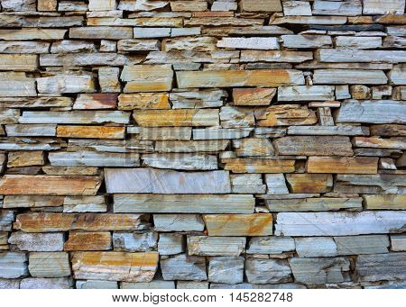 Dry stone wall texture or background