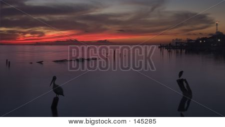 Sunrise Over Galveston Bay