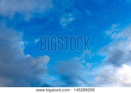 perfect blue sky on a rainy season. beautiful in nature