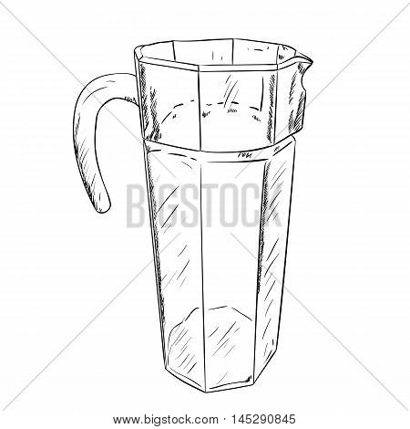 Vector Sketch Of Carafe
