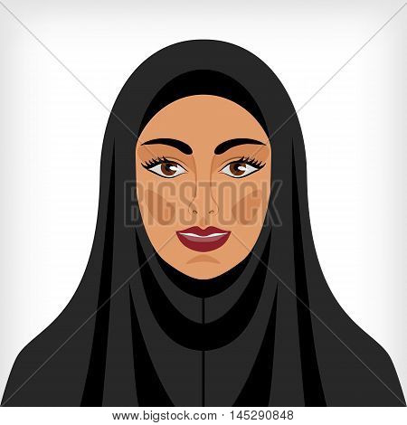 Muslim woman in chador. vector illustration - eps 8