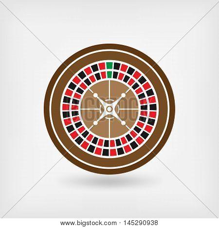 American roulette wheel. casino symbol. vector illustration - eps 10