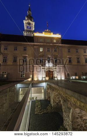Landhaus in Linz. Linz Upper Austria Austria.