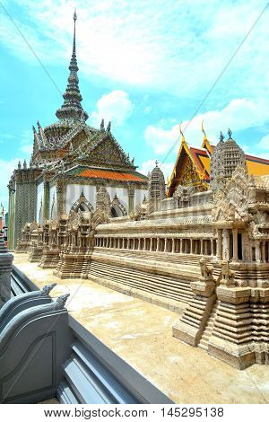 Wat Phra Kaew also called as Emerald Buddha temple is located in Bangkok, Thailand. Wat Phra Kaew is a famous temple in Bangkok and popular tourist attraction.