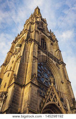 New Cathedral in Linz. Linz Upper Austria Austria.