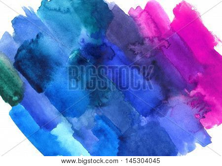 Abstract watercolor colorful texture. Art design. Backdrop of paint texture. Splatter paint splash background textures. Made by gouache and watercolor paint. Colorful brush strokes.