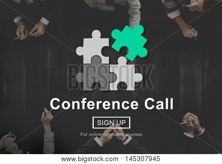 Conference Call Communication Connection Technology Concept