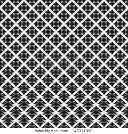 rhombus seamless pattern. black-and-white geometric tiles with rhombus. vector illustration - eps 8