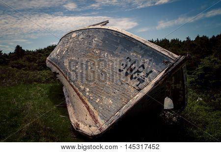 Wooden boat in Prince Edward Island, Canada