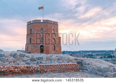 Old Gediminas Tower in Vilnius. Lithuania. Baltics.