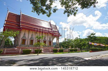 Thailand beautiful buddhist Temple near Phuket Island.