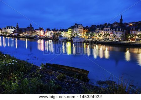 Panorama of Trouville sur Mer. Trouville sur Mer Normandy France.