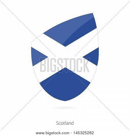 Flag of Scotland in the style of Rugby icon. Vector Illustration.