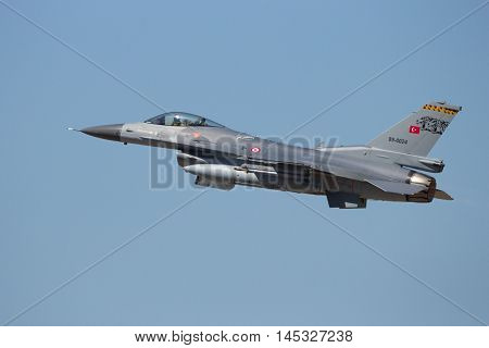 Turkish Air Force F-16 Fighter Jet