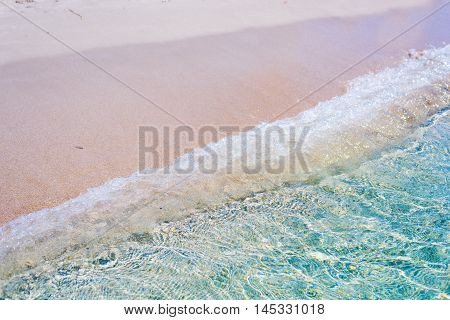 clear water in Alghero foreshore in Italy