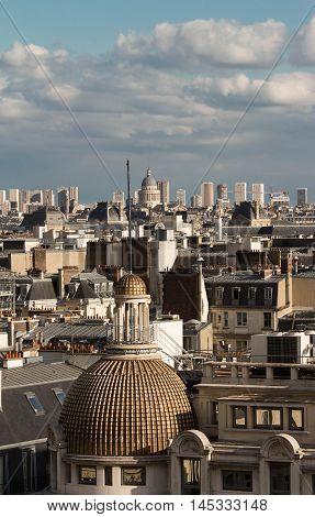 The panorama of  parisian houses, Paris,  France.