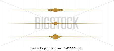 Simple Decorative Gold Borders on White Background. Isolated vector illustration vintage and retro theme old classic design.