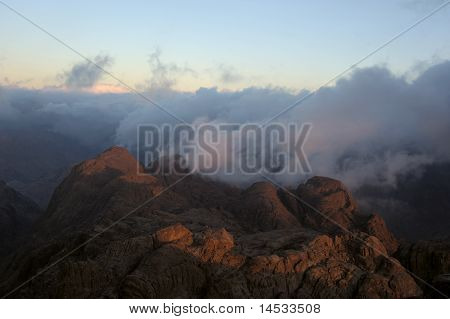 Mountains, Shrouded In Clouds