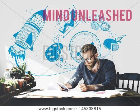 Mind Unleashed Ideas Creativity Imagination Concept