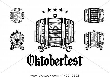 Retro Styled Rubber Stamp With Beer Barrel, Mug And The Text Beer Festival Oktoberfest Vector Illust