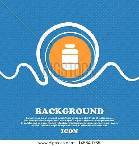 Medication Icon Sign. Blue And White Abstract Background Flecked With Space For Text And Your Design