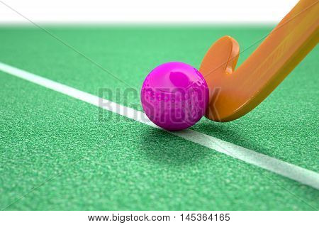 Hockey Stick And Ball
