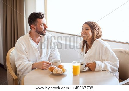 Enjoying Breakfast Together