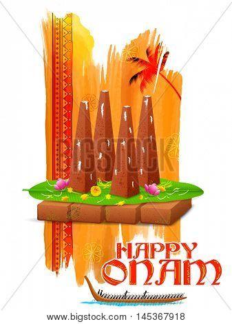 illustration of decorated onathappan for Onam celebration