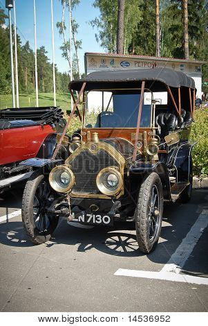 Vintage Car On Exhibition In Golf Country Club, Russia, Moscow