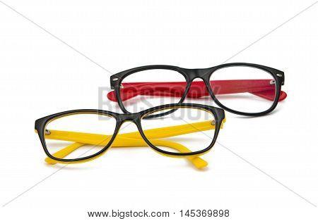 glasses intelligent fashion on a white background