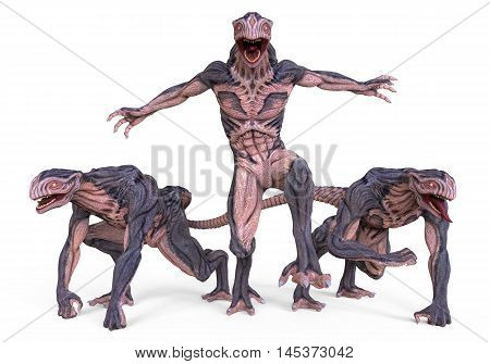 3D Illustration Of A Monsters Isolated on White