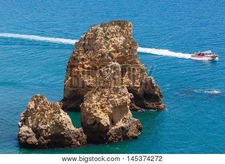 Yellow Cliff Near Coast (lagos, Algarve, Portugal).