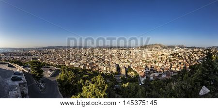 View Of Marseille From Notre-dame De La Garde