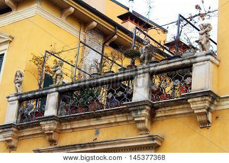 Balcony Detail In Verona, Italy