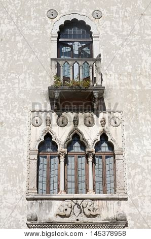 Udine facade of the building in Venetian-Gothic style