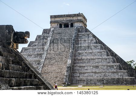 Mexico maya yucatan old Chichen Itza ruins