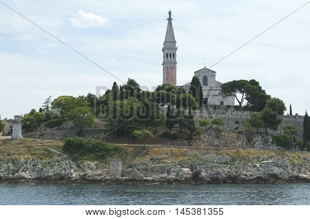Church of Saint Euphemia Rovinj Rovigno Istria Croatia West Side from the Sea