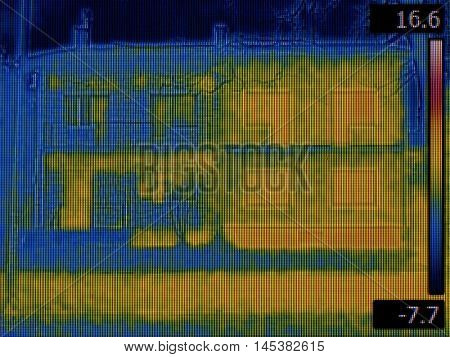Thermal Image of Semi Detached Houses