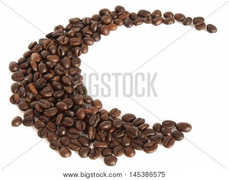 Macro Coffee Beans Closeup.