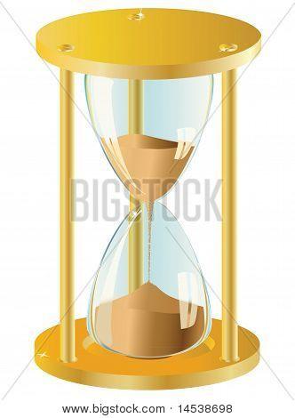 Sand Clock. Vector illustration