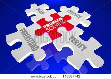 Problem Solving Fix Issue Trouble Repair Puzzle PIeces 3d Illustration