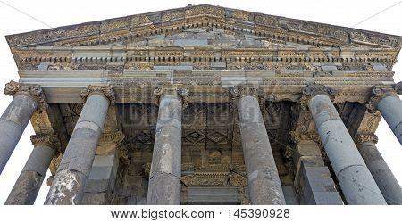 Ornaments of Garni pagan temple in Armenia.
